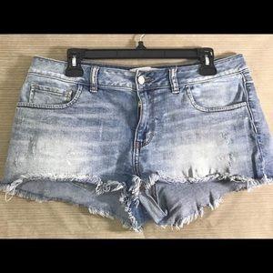Fun, Cute Pair of Pink  VS Jean Distressed Shorts